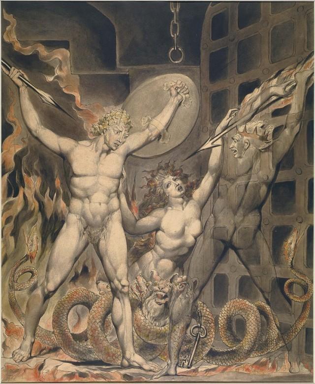 Illustration to Paradise Lost — William Blake