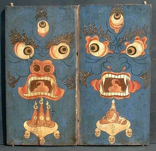 A pair of thorgum doors 18-19