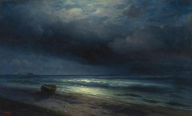 Ivan Aivazovsky, A Moonlit Sea, 1885.