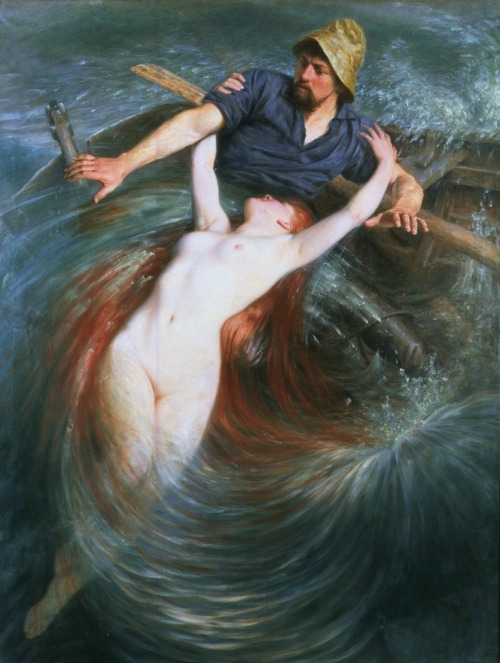 """he Fisherman and the Siren"""" by Knut Ekwall,.jpg"""