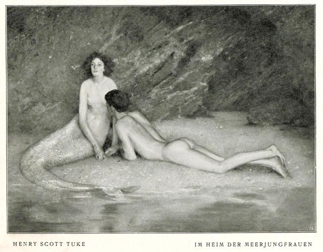 Henry Scott Tuke (1858-1929), 'Im Heim Der Meerjungfrau' (In the Home of the Mermaid).jpg