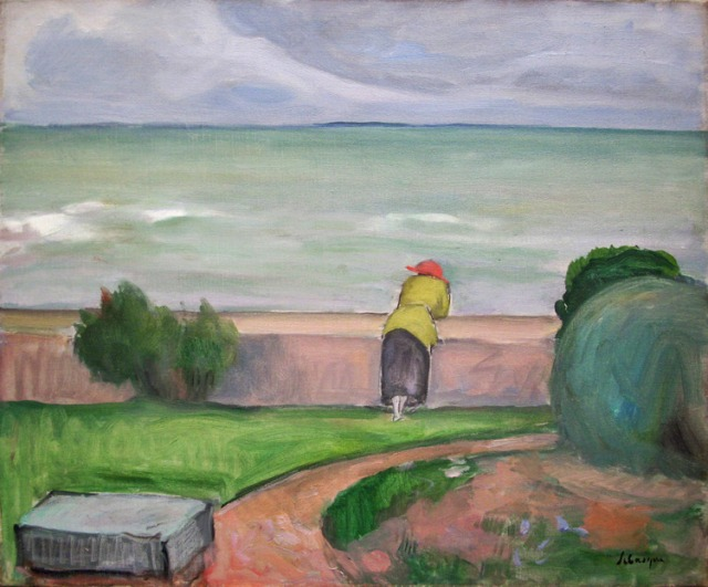 Henri Lebasque Préfailles, the terrace overlooking the sea.jpg