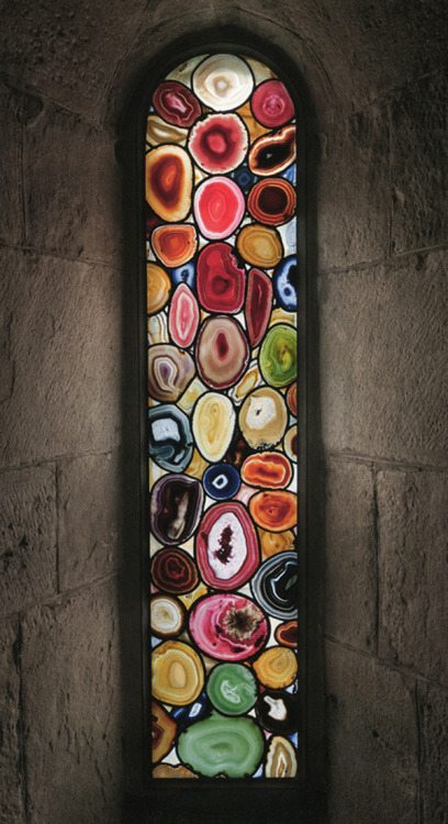 Sigmar Polke's agate 'stained glass' windows for the Grossmunster church in Zurich.jpg