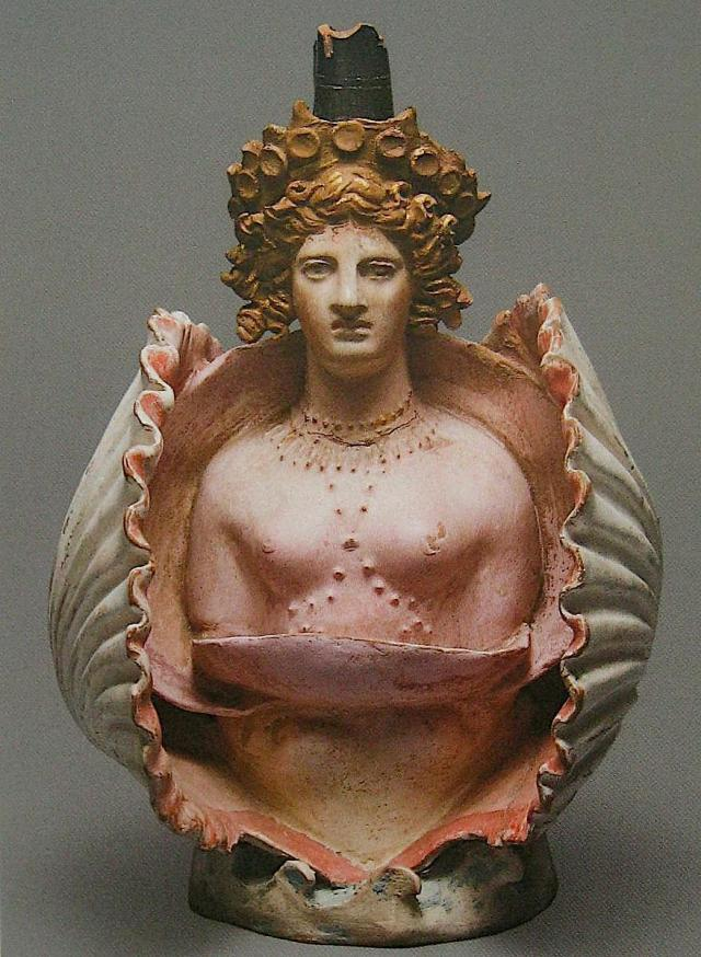 Aphrodite in a shell, made in Athens 400-375 A.D.  .jpg