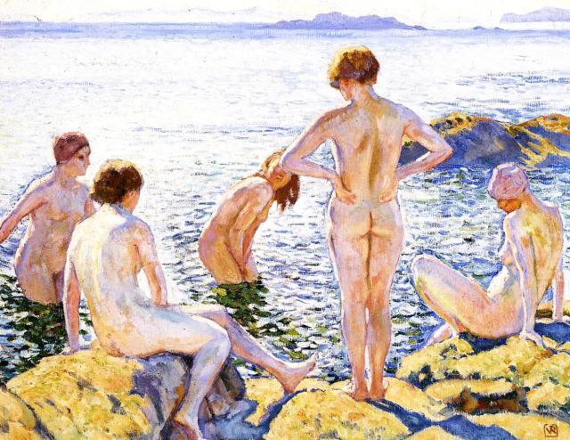 Bathers, 1920, Théo van Rysselberghe.jpg