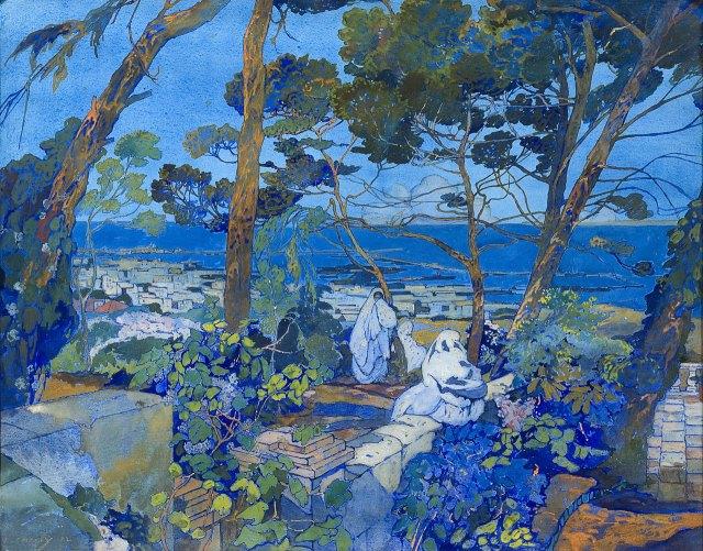 Léon Cauvy (1874-1933), Port d'Alger, vue de la ville, 1922.jpg