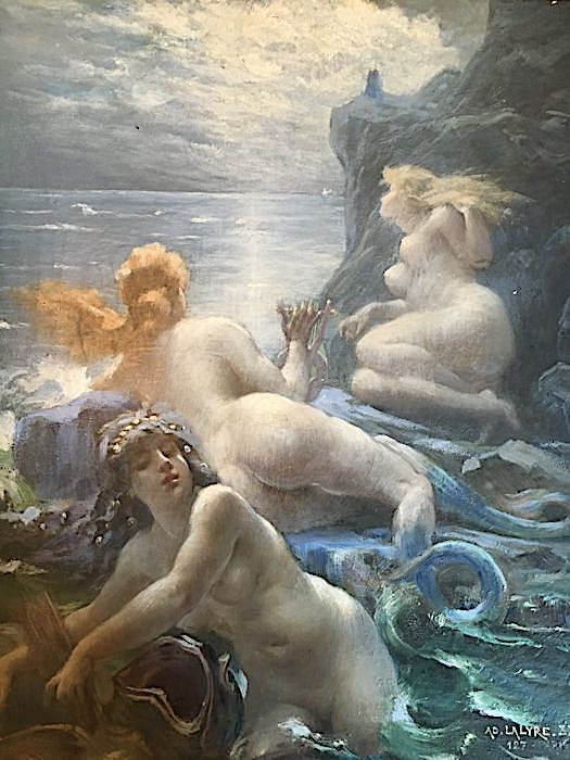 Sirènes à l'Affût (Mermaids On the Lookout) by Adolphe La Lyre .jpg