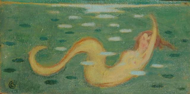 Cornelio Geranzani Stagno e Sirenetta (Pond and little Mermaid.jpg