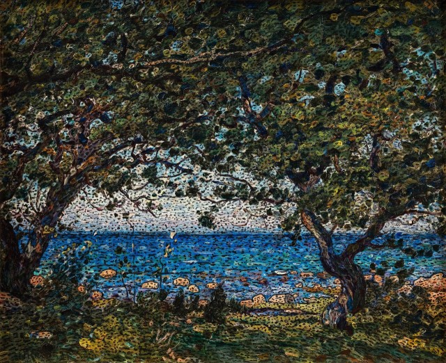 Nils Kreuger  —  Coastal Scene    (indian ink and oil on panel, 1909.jpg