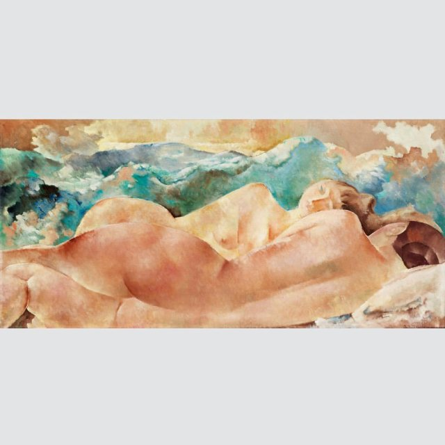 Two Nudes by the Lake, Rodolphe Théophile Bosshard, 1922.jpg