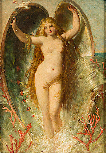 Aphrodite rising out of the seafoam ~1874 ~ Henry Courtney Selous .jpg