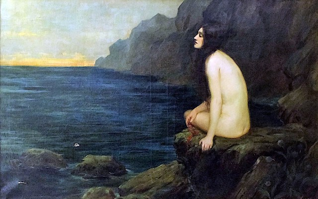 Ariadne On a Rock ~ circa 1900 ~ Sydney Percy Kendrick.jpg