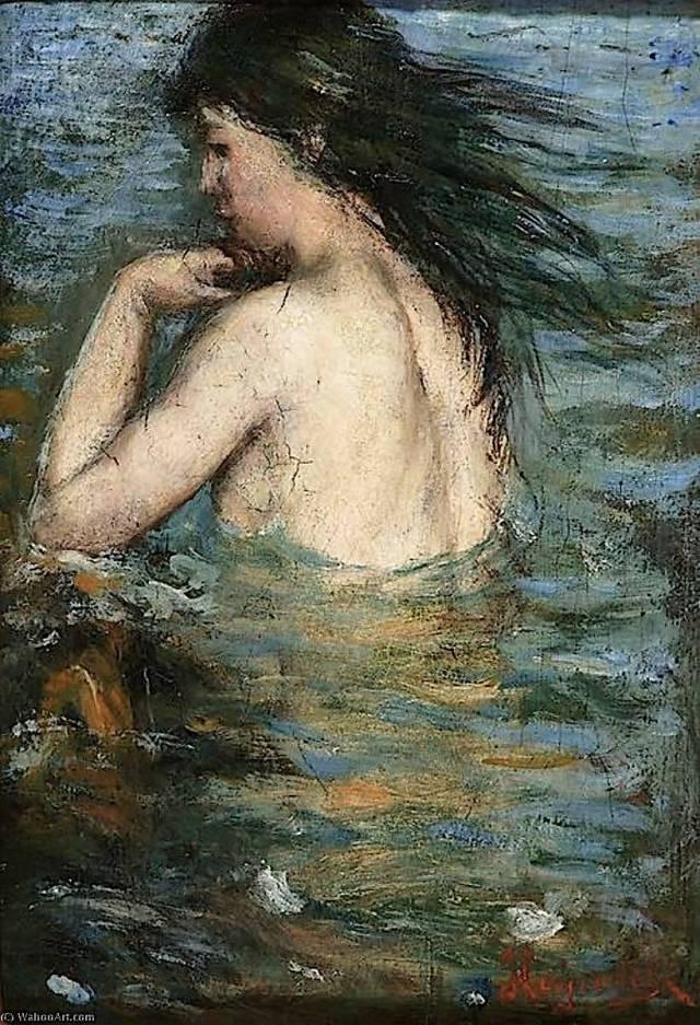 Bathing Nymph ~ 1890 ~ Hans Olaf Halvor Heyerdahl.jpg