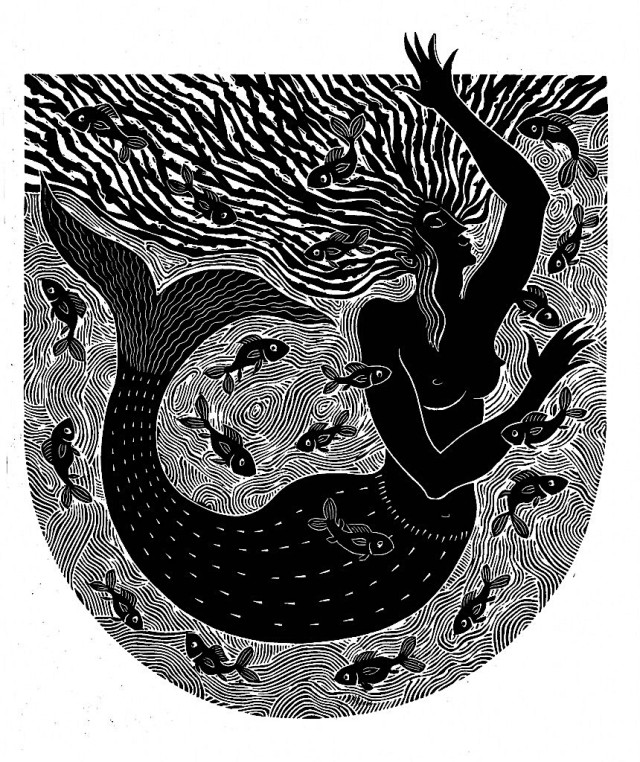 Dances With Fish by United Kingdom contemporary artist Hugh Ribbans.jpg