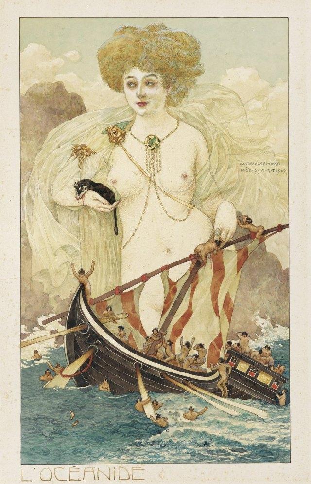 Gustave Adolphe Mossa ~ Sea Nymph 1909.jpg