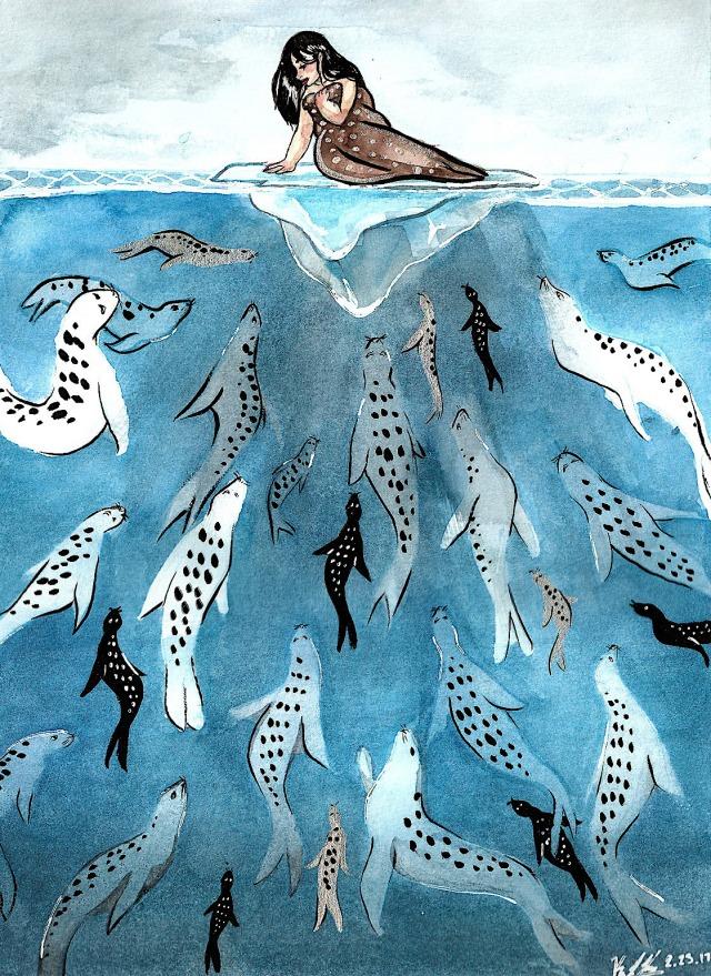 Selkie by American illustrator kaybeast.jpg