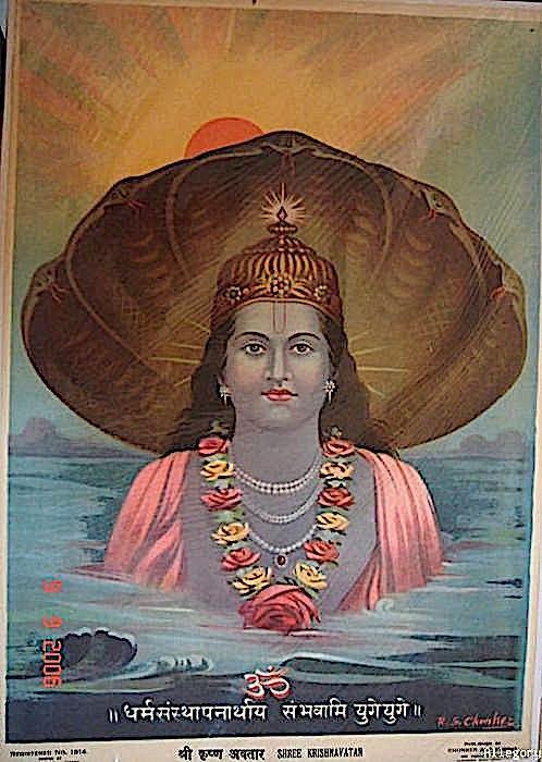 Shree Krishnavatar ~ c.1900 ~ Indian artist R. G. Chonker.jpg