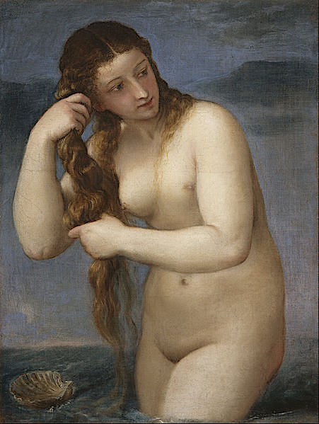 Venus Rising from the Sea (Venus Anadyomene) ~ c.1520 ~ Tiziano Vecelli .jpg