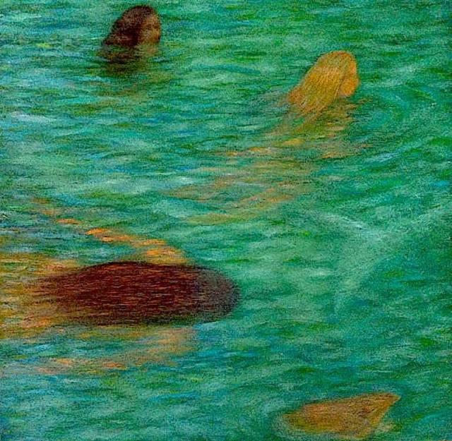 Celeste Paulick Three Girls Swimming