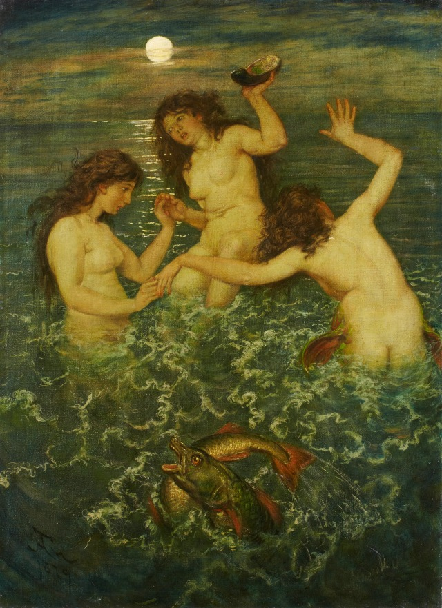 Drei Meerweiber (Three Mermaids), 1879, by Hans Thoma.jpg