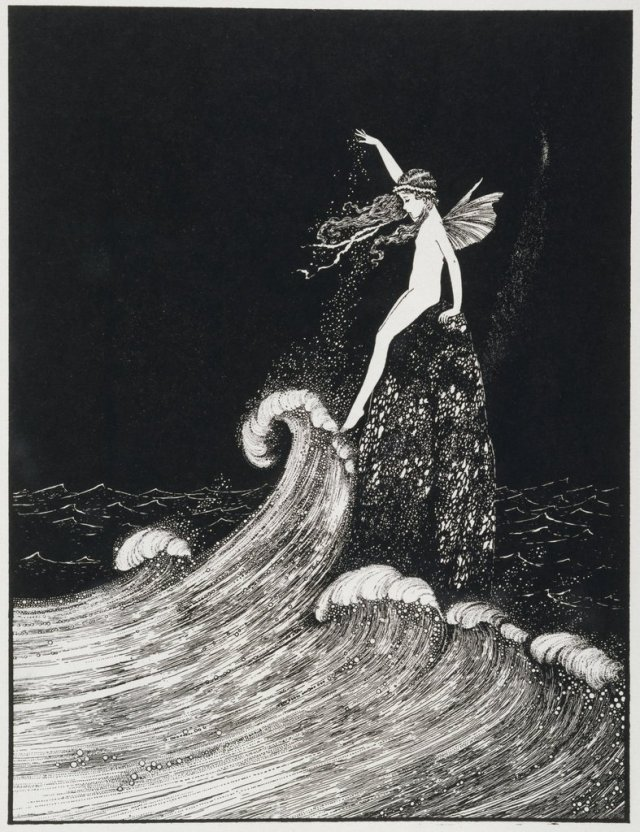 Ida Rentoul Outhwaite  __  Flower of the Foam, 1931.jpg