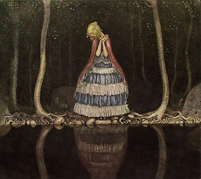 Inge By the Dark Lake by John Bauer