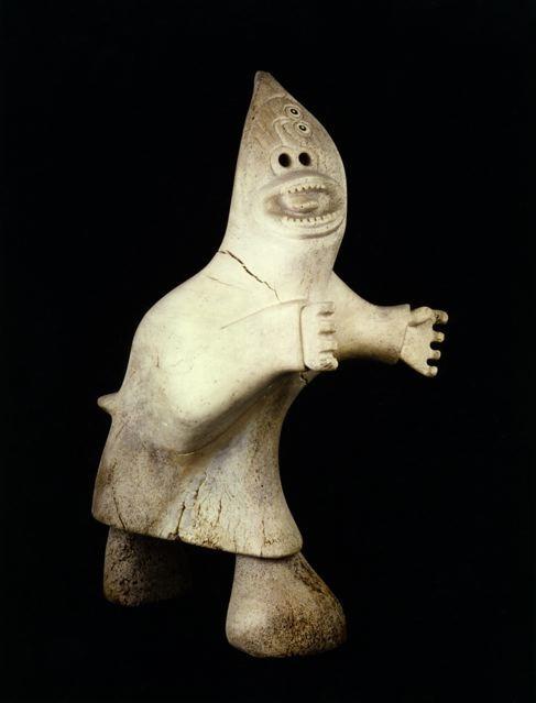 Karoo Ashevak, taloyoak shaman, whale bone 1969