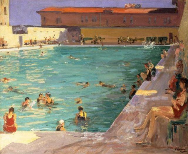 The people's pool, Palm Beach   1927 Sir John Lavery R.A. Irish .jpg