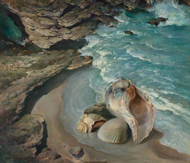 Arthur Meltzer (American, 1893-1989), Cockle and Conch.jpg