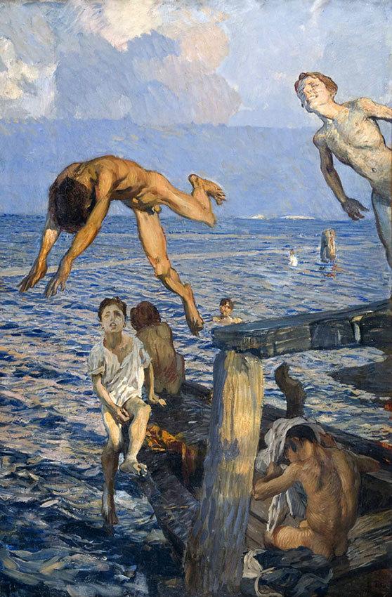 Ettore Tito (Italian, 1859-1941), Il Tuffo [The Dive], 1910-15.jpg