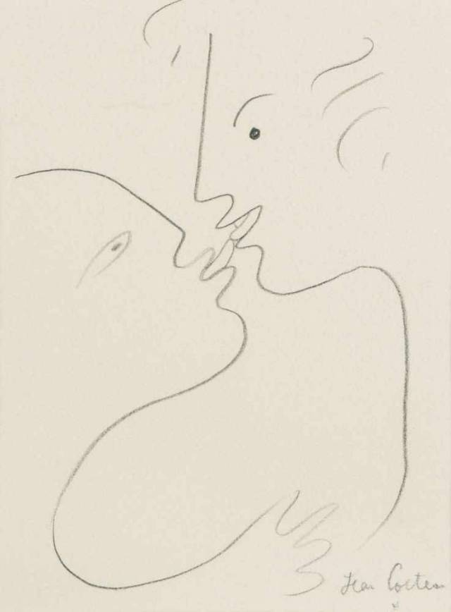 Jean Cocteau (French, 1889-1963), Le baiser [The kiss], c.1957-58.jpg