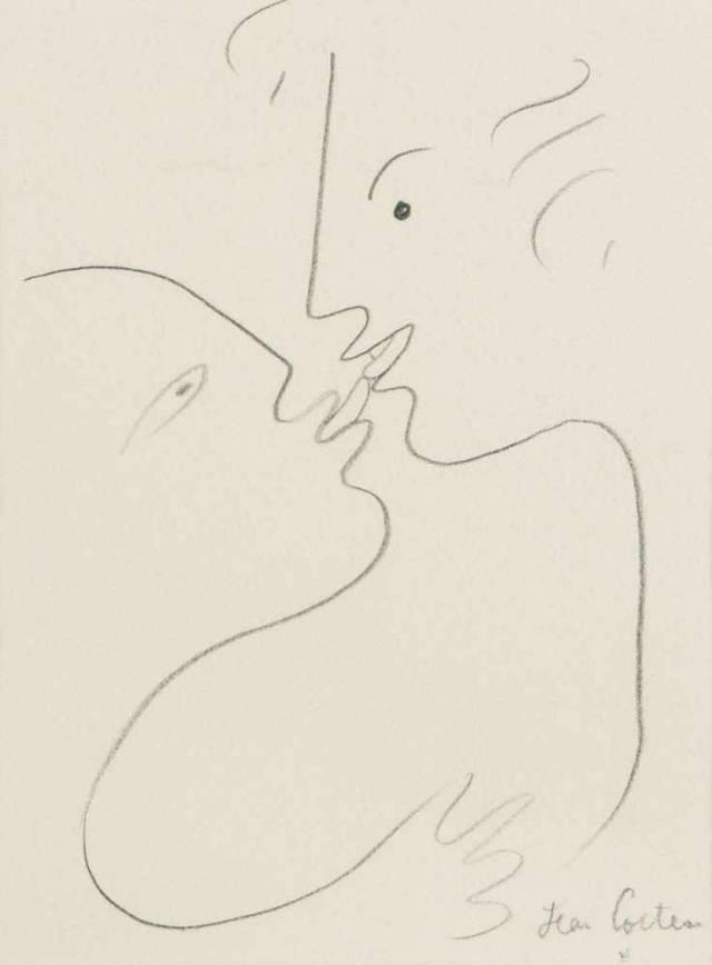 Jean Cocteau (French, 1889-1963), Le baiser [The kiss], c.1957-58.jpg