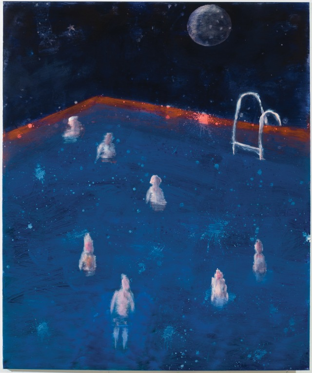 Katherine Bradford (American, b. 1942, NYC, USA, based Brooklyn, NY, USA, and Brunswick, ME, USA) - Pool, Red Rim, 2017.jpg