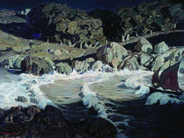 Night at the seaside, 1903, Konstantin Bogaevsky.jpg