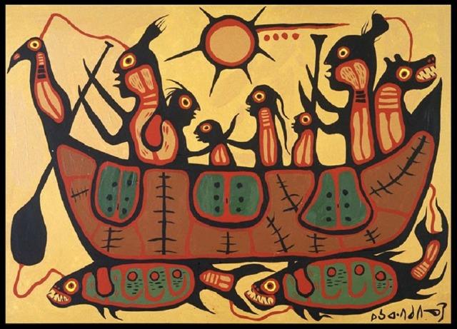 Norval Morrisseau (Canadian, 1932-2007), Migration, 1973.jpg
