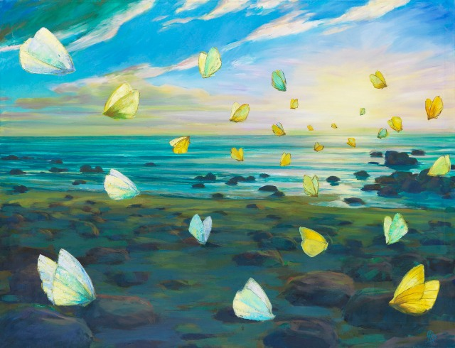 Alexander Besel (b. 1971), Schmetterlinge am Strand [Butterflies on the beach], c.2005.jpg