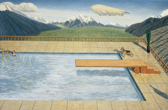 Axel Krause (German, b. 1958), Pool in the Mountains, 1998.jpg