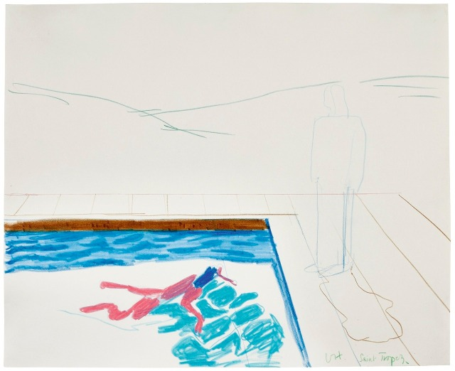 David Hockney (British, b. 1937), Study for Portrait of an Artist (Pool with Two Figures), 1972..jpg