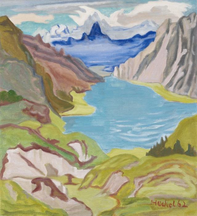 Erich Heckel (German, 1883-1970), Kleine Berglandschaft [Small mountain landscape], 1962..jpg