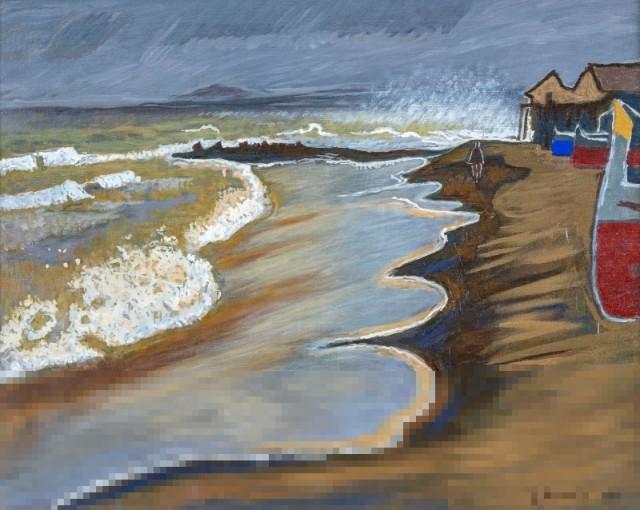 Erich Hermès (Swiss, 1881-1971), La plage [The Beach], 1956.jpg