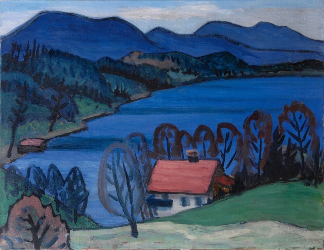 Gabriele Münter (German, 1877-1962), See am Ostertag [Lake on Easter Day], 1935.jpg