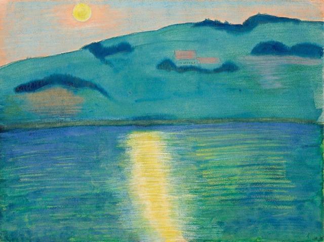 Marianne von Werefkin (Russian:Swiss, 1860-1938), Mondscheinlandschaft [Moonlit Landscape.jpg