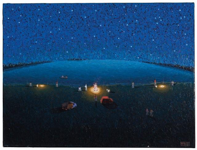 Mario Segundo Pérez (Argentinian, 1960-2018), Pescadores [Fishermen], 1998.jpg