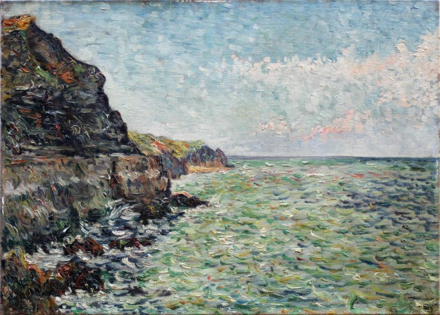 Paul Signac (French, 1863-1935), Port-en-Bessin (étude n°2), 1883..jpg