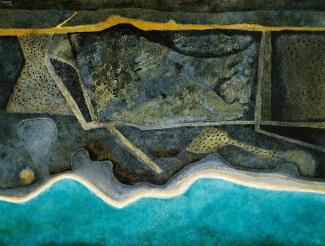 Rufino Tamayo (Mexican, 1899-1991), La costa [The Coastline], 1973.jpg