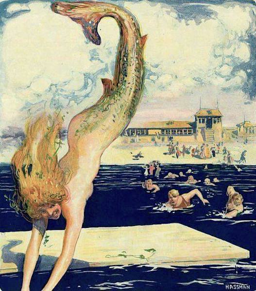 The Pursuit ~ Puck magazine cover illustration ~ August, 1910 ~ Carl Hassman.jpg