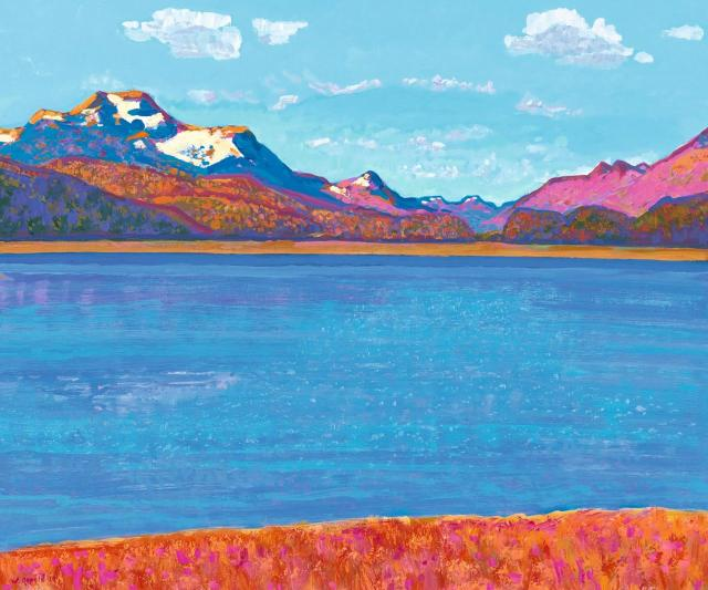Walter Ropélé (Swiss, b. 1934), Herbstzeit am Silsersee [Autumn at Lake Sils], 2010..jpg